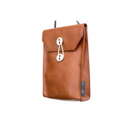Passport bag(V) Brown sling...