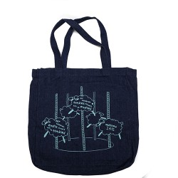 BYOB Denim bag with Sheep...