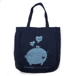 BYOB Denim bag with Piggy...