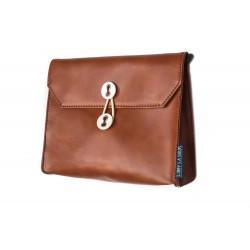 証件包(橫款) 啡色 單肩包 側袋 繩袋 旅行包